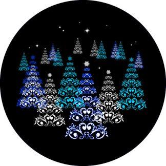 gobo tre colori natale tema natalizio foresta innevata abeti neve