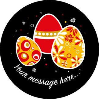 gobo tre colori uova di pasqua testo messaggio personalizzato