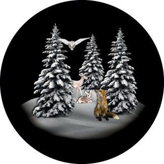 gobo tre colori bosco foresta innevata animali inverno tema natalizio natale