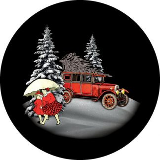 gobo tre colori tema natalizio natale foresta innevata neve pini bambini