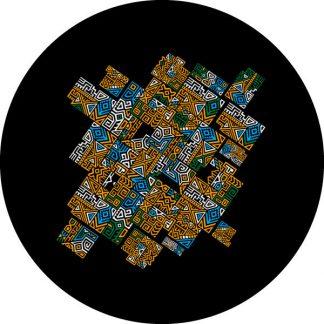 gobo tre colori pattern texture colorato giallo blu