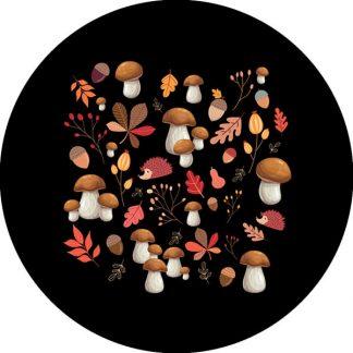 gobo tre colori autunno tema autunnale stagioni funghi foglie autunno