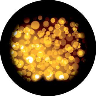 gobo tre colori glitter dorato dorati oro luci