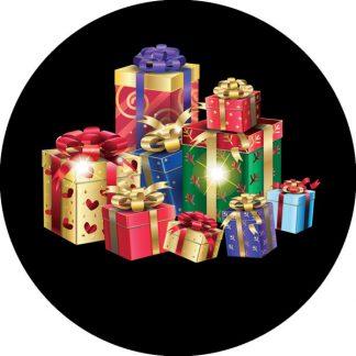 gobo tre colori pacchi regalo doni natale tema natalizio