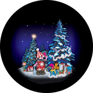 gobo tre colori elfo elfi natale tema natalizio doni pacchi regalo foresta innevata pini bosco