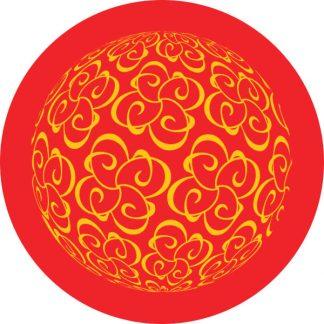 gobo due colori rosso giallo motivi geometrici