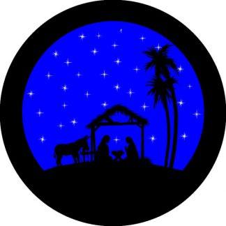 gobo due colori natale tema natalizio blu nero presepe presepio
