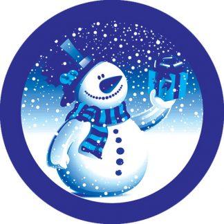 gobo due colori pupazzo di neve blu natale tema natalizio