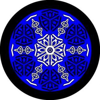 gobo due colori blu blu motivi geometrici