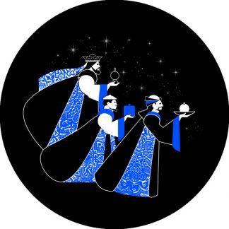 gobo due colori tema natalizio natale re magi cammelli blu nero