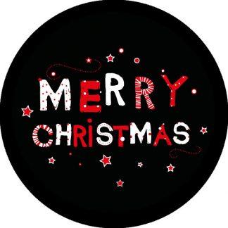 gobo due colori buon natale tema natalizio auguri rosso nero