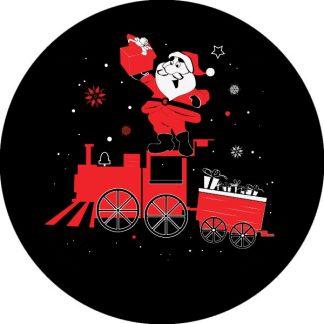 gobo due colori tema natalizio natale babbo natale trenino rosso nero bianco