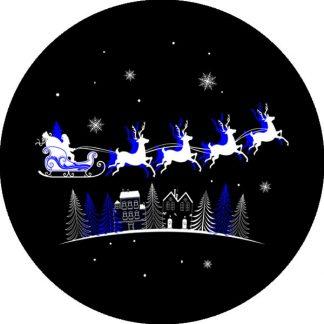 gobo due colori babbo natale renne tema natalizio pini foresta notte stellata