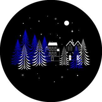 gobo due colori natale tema natalizio pini foresta notte stellata blu nero