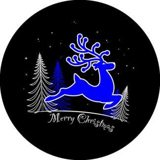 gobo due colori renna natale tema natalizio blu nero
