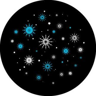 gobo due colori tema natalizio natale ciano nero bianco fiocchi di natale