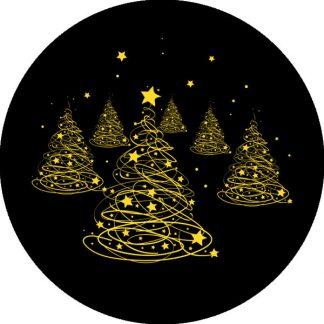 gobo due colori pini natale geometrico giallo albero di natale