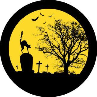 gobo due colori tema halloween giallo nero cimitero gatto pipstrelli