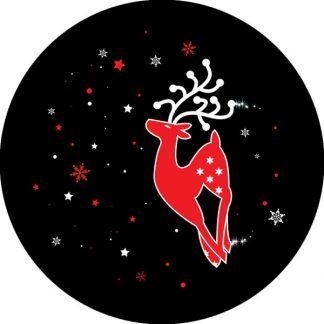 gobo due colori renna natale tema natalizio rosso nero