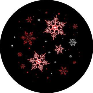 gobo due colori natale tema natalizio fiocchi di neve rosso nero