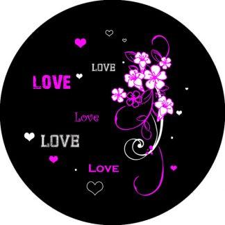 gobo due colori tema floreale amore love magenta nero rosa