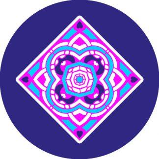 gobo due colori azzurro ciano magenta rosa blu motivi geometrici
