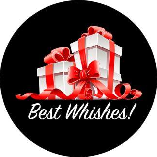 gobo due colori pacchi dono natale tema natalizio fiocchi rosso rossi bianco nero auguri buon natale