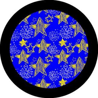 gobo due colori stelle fiocchi di neve natale natalizio blu giallo