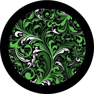 gobo due colori motivi floreali verde nero piante