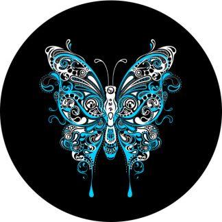 gobo due colori farfalla ciano azzurro bianca motivi geometrici