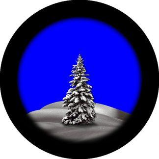 gobo due colori pineta finestra innevata natale tema natalizio neve