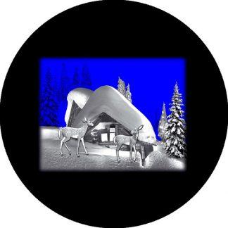 gobo due colori natale tema natalizio casa aurora boreale renne neve innevata