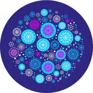 gobo due colori natale tema natalizio fiocchi di neve magenta ciano blu