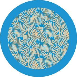 gobo due colori tema estivo palme giallo azzurro