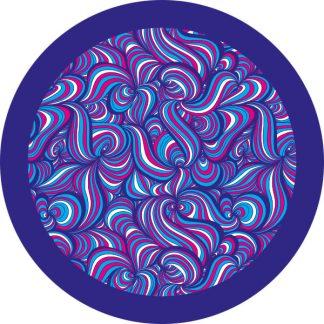 gobo due colori onde magenta ciano azzurro rosa blu motivi geometrici