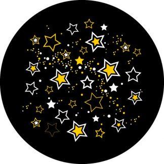 gobo due colori stelle natalizio natale giallo bianco nero