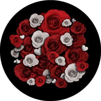 gobo due colori rose san valentino amore rosa bianco rosso