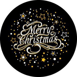 gobo due colori stelle natalizio natale giallo bianco nero natalizio auguri buon natale