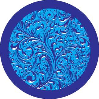 gobo due colori motivo floreale foglie natura blu azzurro