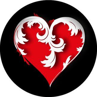 due colori gobo cuore san valentino rosso nero