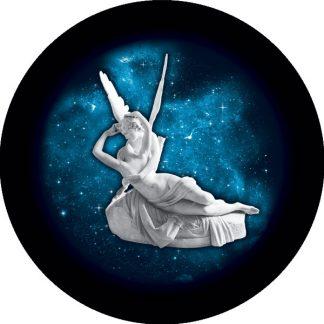 amore e psiche gobo due colori statua arte cielo stellato