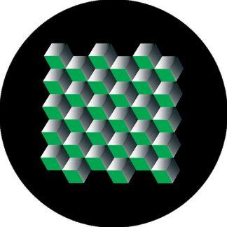 gobo due colori verde cubi motivi geometrici