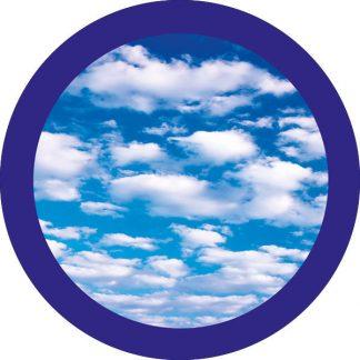 gobo due colori nuvole cielo azzurro