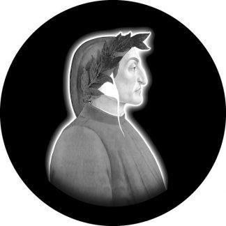 gobo personalizzato in scala di grigio dante tema letterario raster