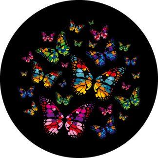 gobo a 3 tre colori con farfalle tema primaverile
